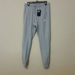 Gray Fleece Nike Sportswear Active Pants